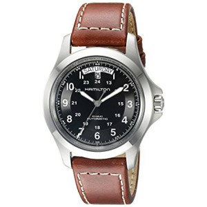 amilton Men's H64455533 Khaki King Series Stainless Steel Automatic Watch
