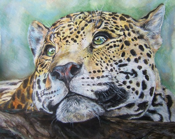 Leopard Watercolor Painting