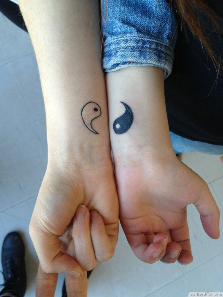 Simple Relationship Couple Tattoo Designs