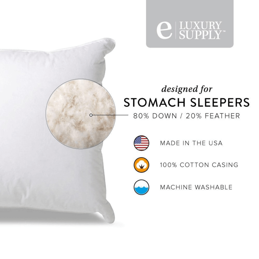 Extra Soft Down Filled Pillow for Stomach Sleepers - Features