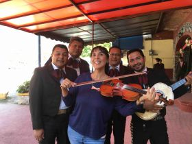 Jet Metier with mariachi band in Mexico