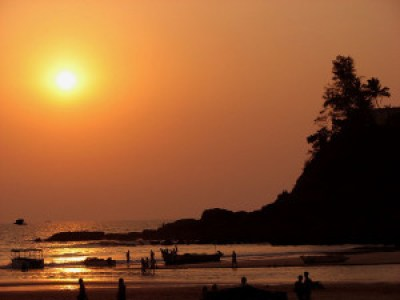 Baga at sunset