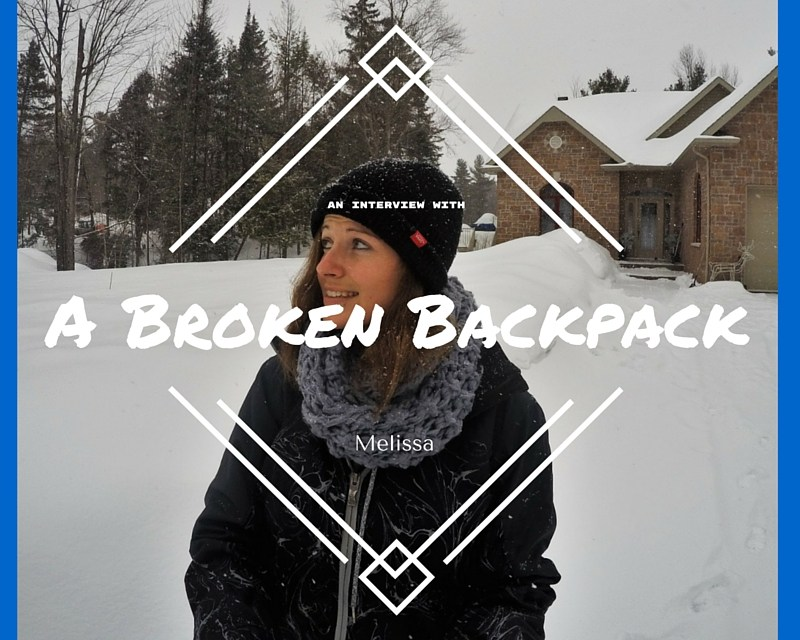 Interview with Melissa @A Broken Backpack
