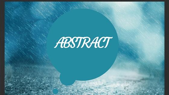 Abstract: Raindrops