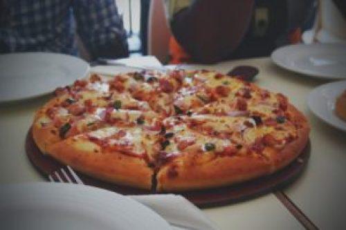 Pizza at dinnertime