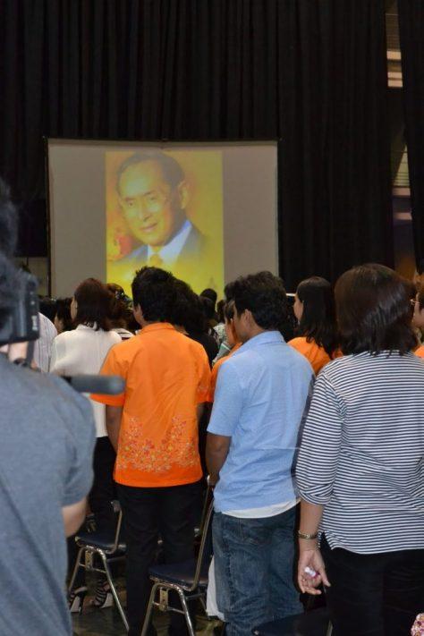 Bangkok- King's national anthem before a movie