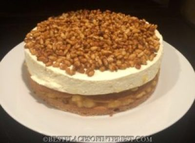 guava and goat cheese layer cake method to make