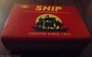 Ship matchbox- matchbox with a name