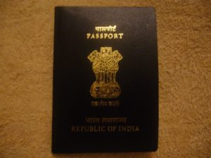 Machine readable Indian Passport cover