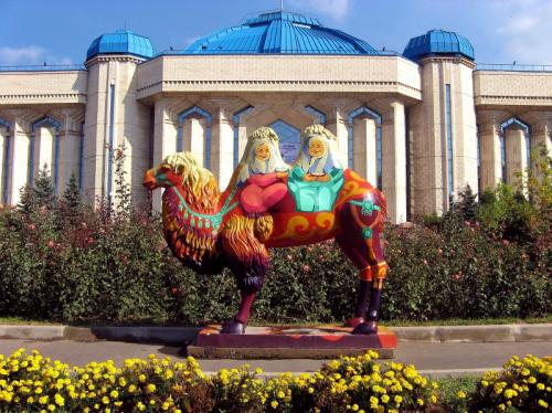 central camel statue, Almaty, Kazakhstan