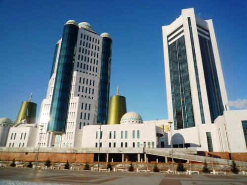 2 towers of Parliament, Astana, Kazakhstan