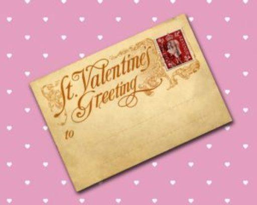 Valentine Day postcard vintage