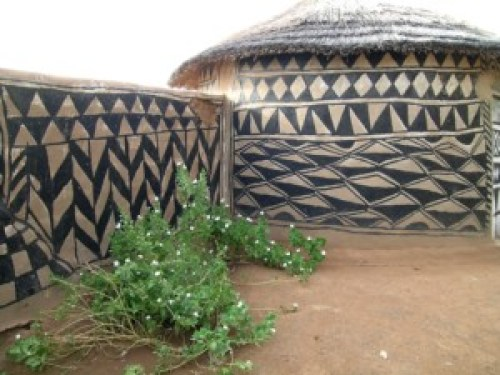 Tiebele traditional house decoration Burkina Faso, bizarre places