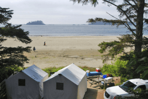 Green Point, Pacific Rim, Long Beach, campsite in Canada