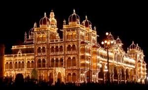 Mysore Palace during Dasera