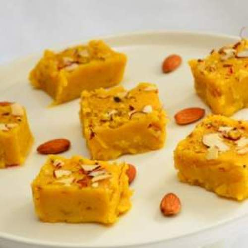 Kesar and Paneer Burfi for the festive season