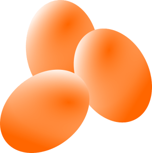 Eggs in a fridge