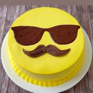 Cool dad emoji cake