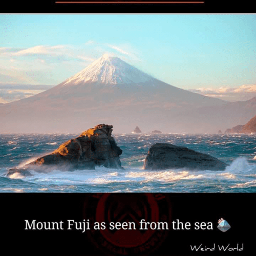 Mount Fuji as seen from the sea, breathtaking places in the world
