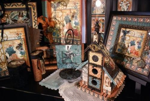 steam punk installation and gadgets