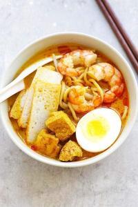 laksa, Singapore street food