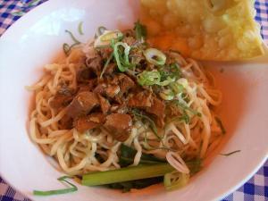 Mie Ayam, street food Indonesia