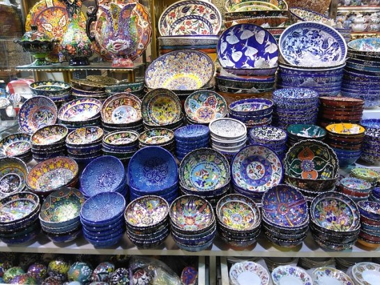 Istanbul grand bazaar Turkish market traditional