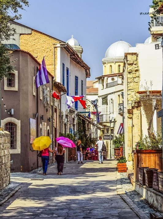 Cyprus limassol old town street architecture