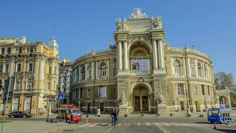 Odessa, Theatre, Morning, Sky, East Europe