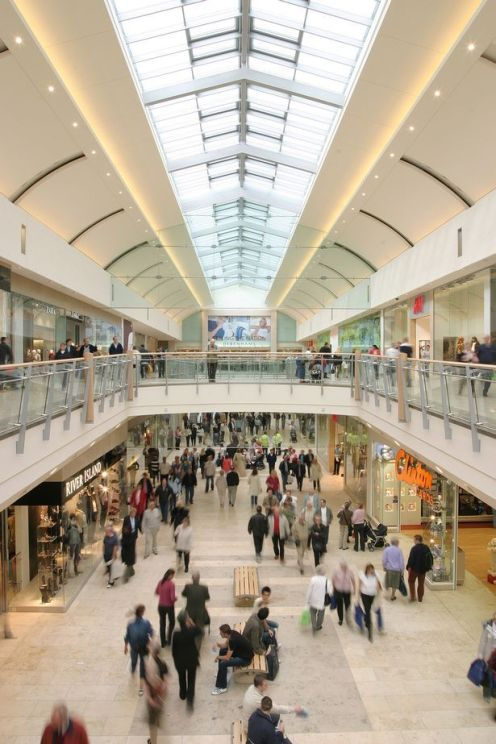 The largest shopping complex in Great Britain. The MetroCentre in Gateshead, Tyne & Wear, England. Short drive from Newcastle
