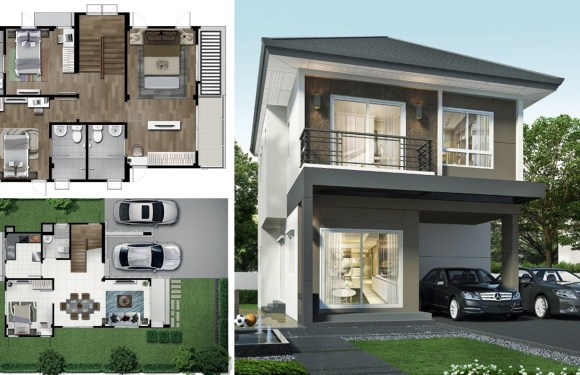 2 story house 164 Sq.M. with 4 bedrooms
