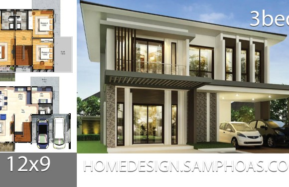House Plans Idea 12×9 with 3 bedrooms