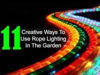 11 Creative Ways To Use Rope Lighting In The Garden