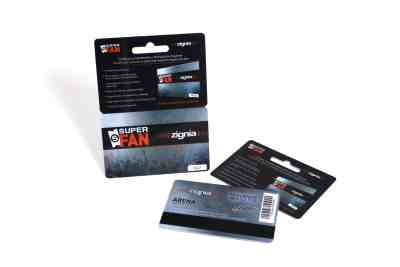 Hanging Plastic Gift Card with HiCo Mag Stripe