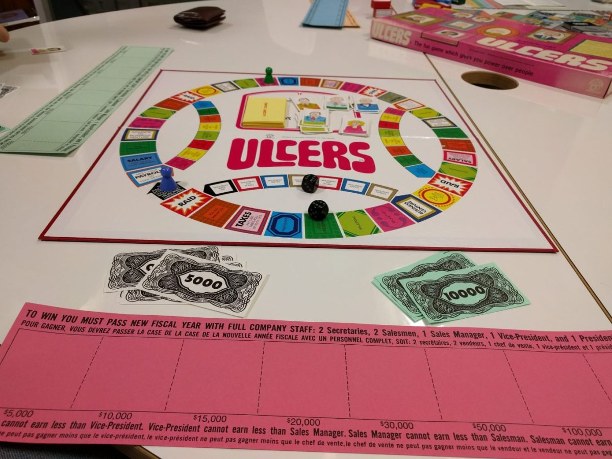 Ulcers board and money