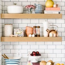 52 Most Popular Kitchen Shelves Ideas For Inspiring Your Kitchen Design 46