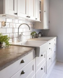 72 Beautiful Kitchen Countertop Ideas with White Cabinets Look Luxurious 2195