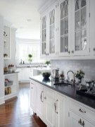 72 Beautiful Kitchen Countertop Ideas with White Cabinets Look Luxurious 2209