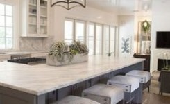 72 Beautiful Kitchen Countertop Ideas With White Cabinets Look Luxurious 21