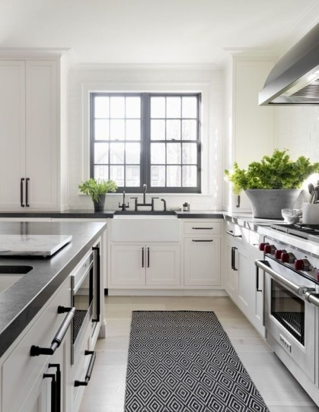 72 Beautiful Kitchen Countertop Ideas with White Cabinets Look Luxurious 2217