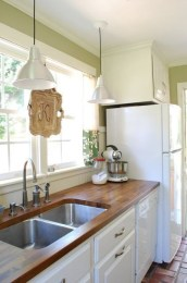 72 Beautiful Kitchen Countertop Ideas with White Cabinets Look Luxurious 2220
