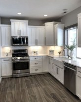 72 Beautiful Kitchen Countertop Ideas with White Cabinets Look Luxurious 2221