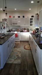 72 Beautiful Kitchen Countertop Ideas with White Cabinets Look Luxurious 2227
