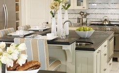 72 Beautiful Kitchen Countertop Ideas With White Cabinets Look Luxurious 43