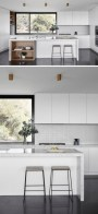 72 Beautiful Kitchen Countertop Ideas with White Cabinets Look Luxurious 2239