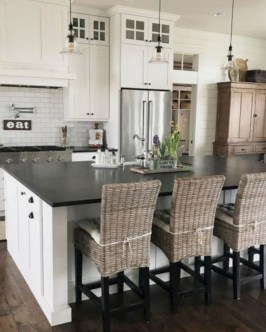 72 Beautiful Kitchen Countertop Ideas with White Cabinets Look Luxurious 2244