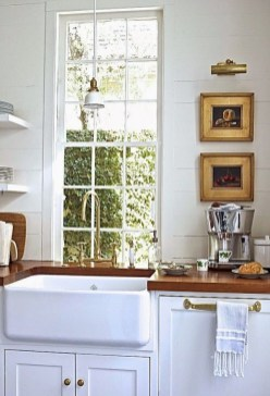 72 Beautiful Kitchen Countertop Ideas with White Cabinets Look Luxurious 2245