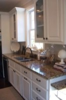 72 Beautiful Kitchen Countertop Ideas with White Cabinets Look Luxurious 2258