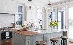 83 Grey Kitchen Wood Island Tips To Designing It Look Luxurious 5