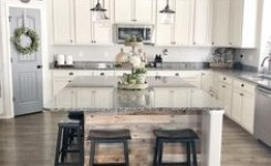 83 Grey Kitchen Wood Island Tips To Designing It Look Luxurious 65